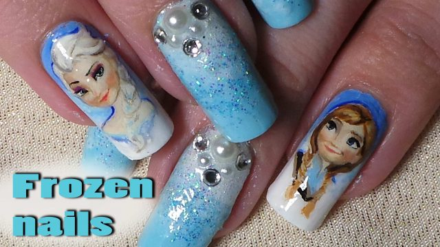 Disney Inspired; Frozen Nail Art – Tutorial/Timelapse